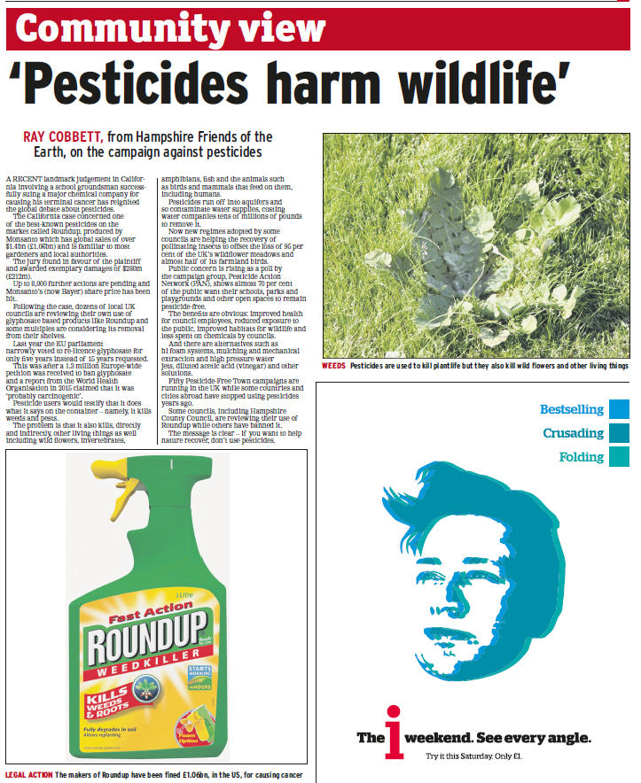 Portsmouth News - Pesticides harm wildlife