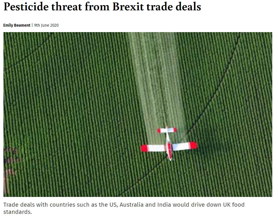 Ecologist: Pesticide threat from Brexit trade deals