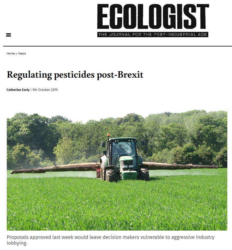 The Ecologist - Regulating pesticides post-Brexit