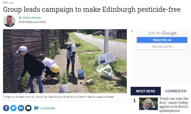 The National: Group leads campaign to make Edinburgh pesticide-free