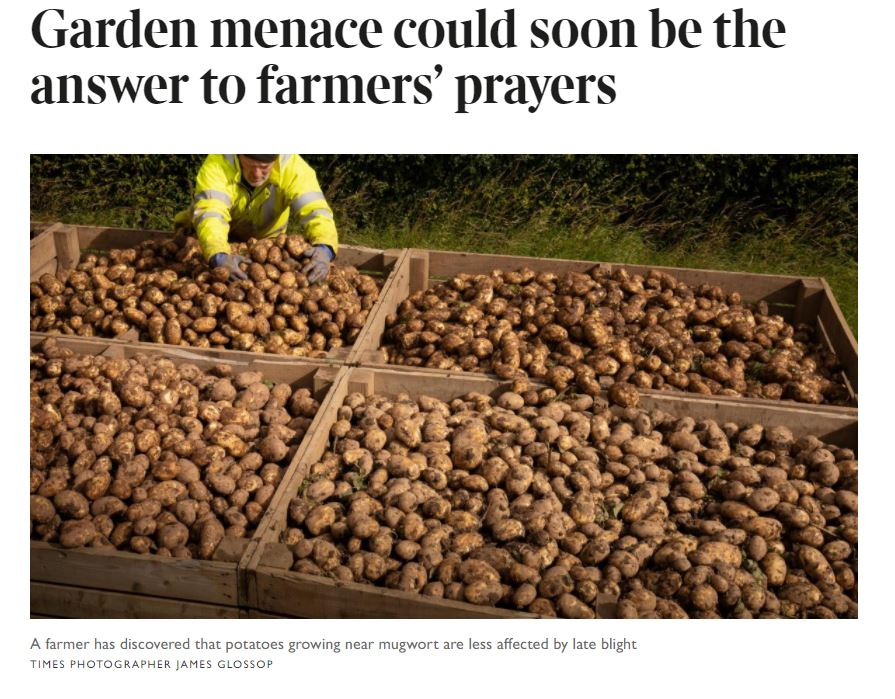 The Times - Garden menace could be answer to farmers' prayers