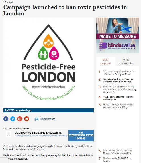 Times Series - Ban toxic pesticides in London