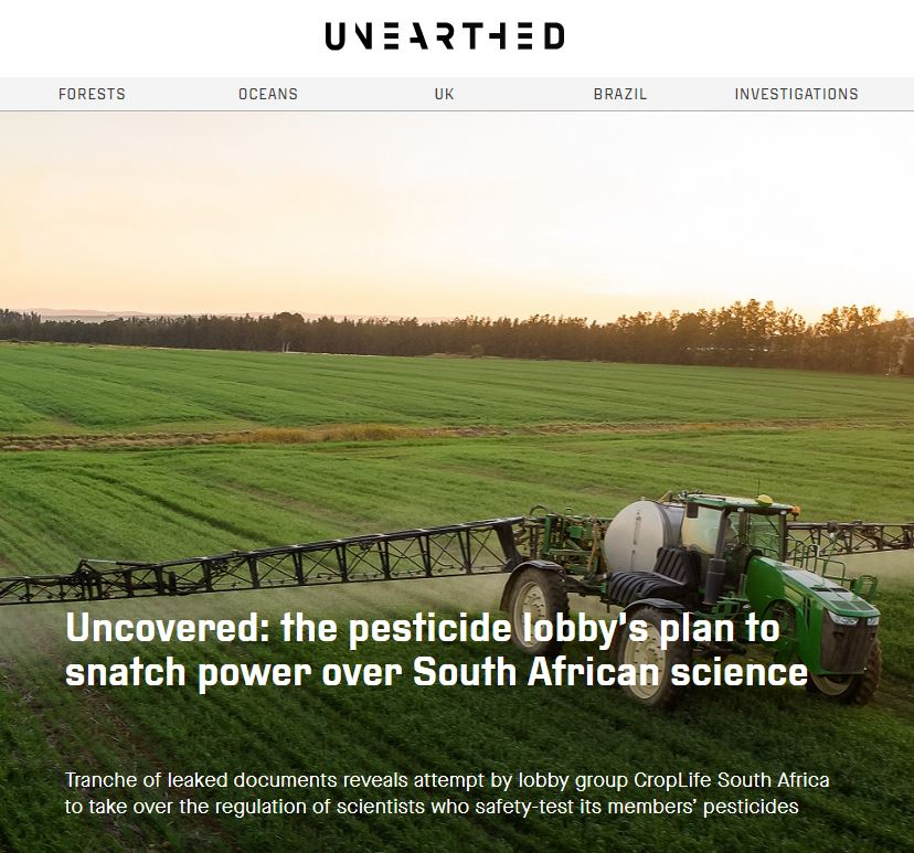 Unearthed - The pesticide lobby's plan to snatch power over South African science