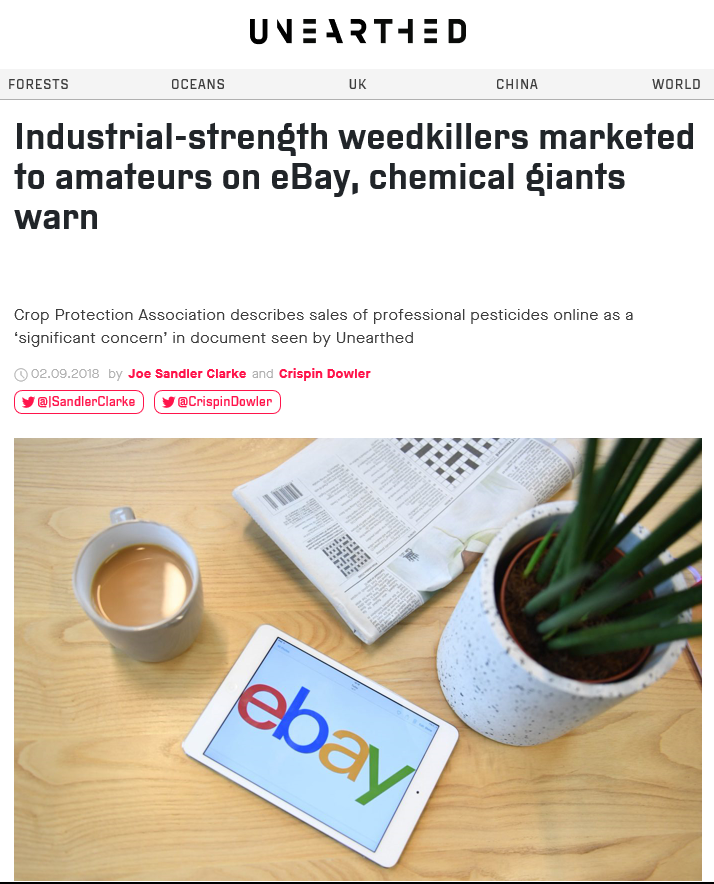 Industrial-strength weedkillers marketed to amateurs
