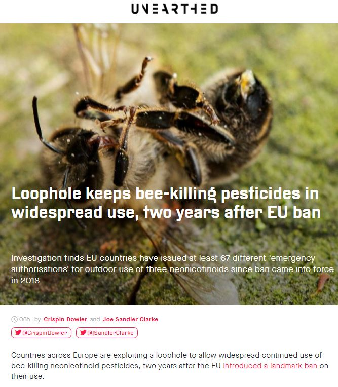 Unearthed: Loophole keeps bee-killing pesticides in widespread use