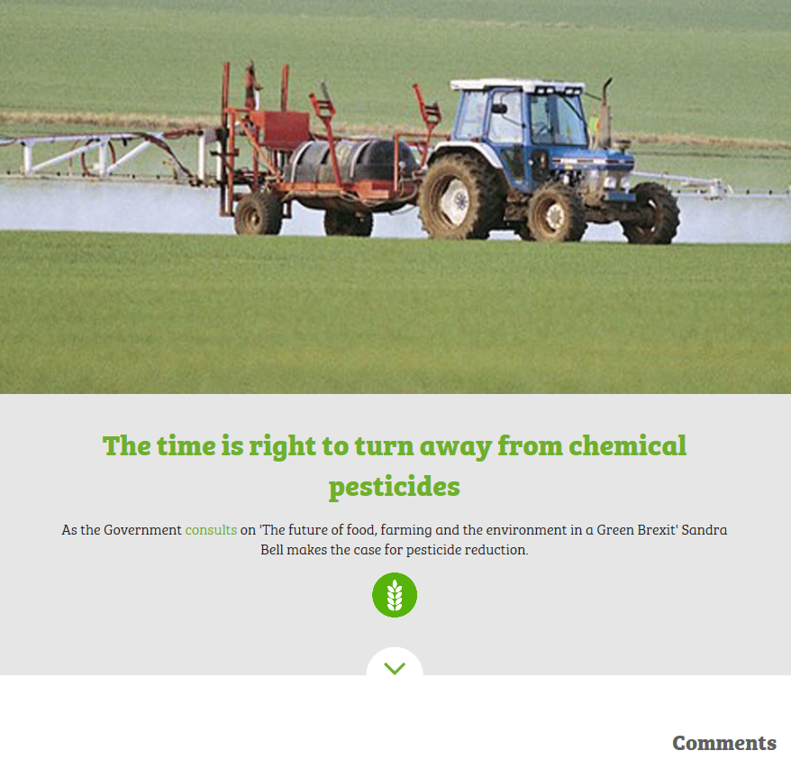 Wildlife and Countryside Link - 4th April 2018 - The time is right to turn away from chemical pesticides
