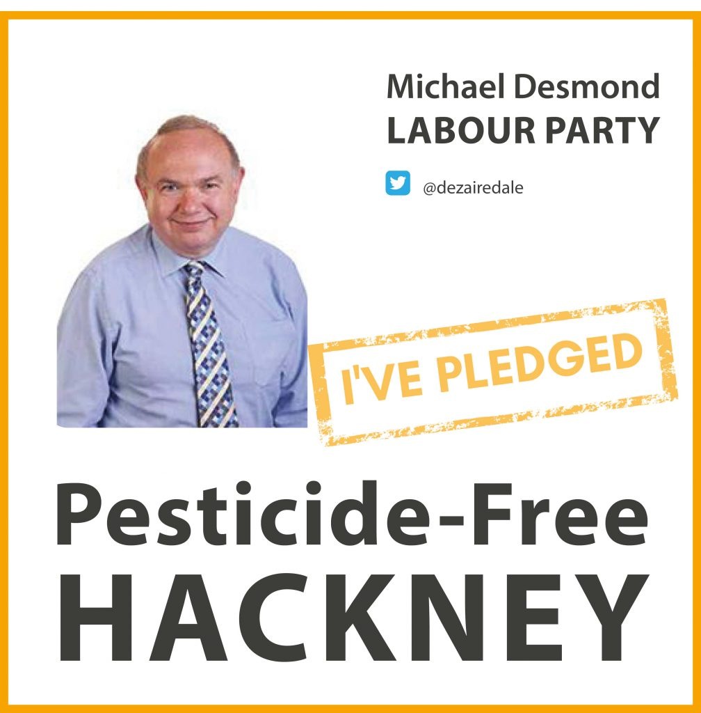 Michael Desmond has taken the pesticide-free pledge in Hackney
