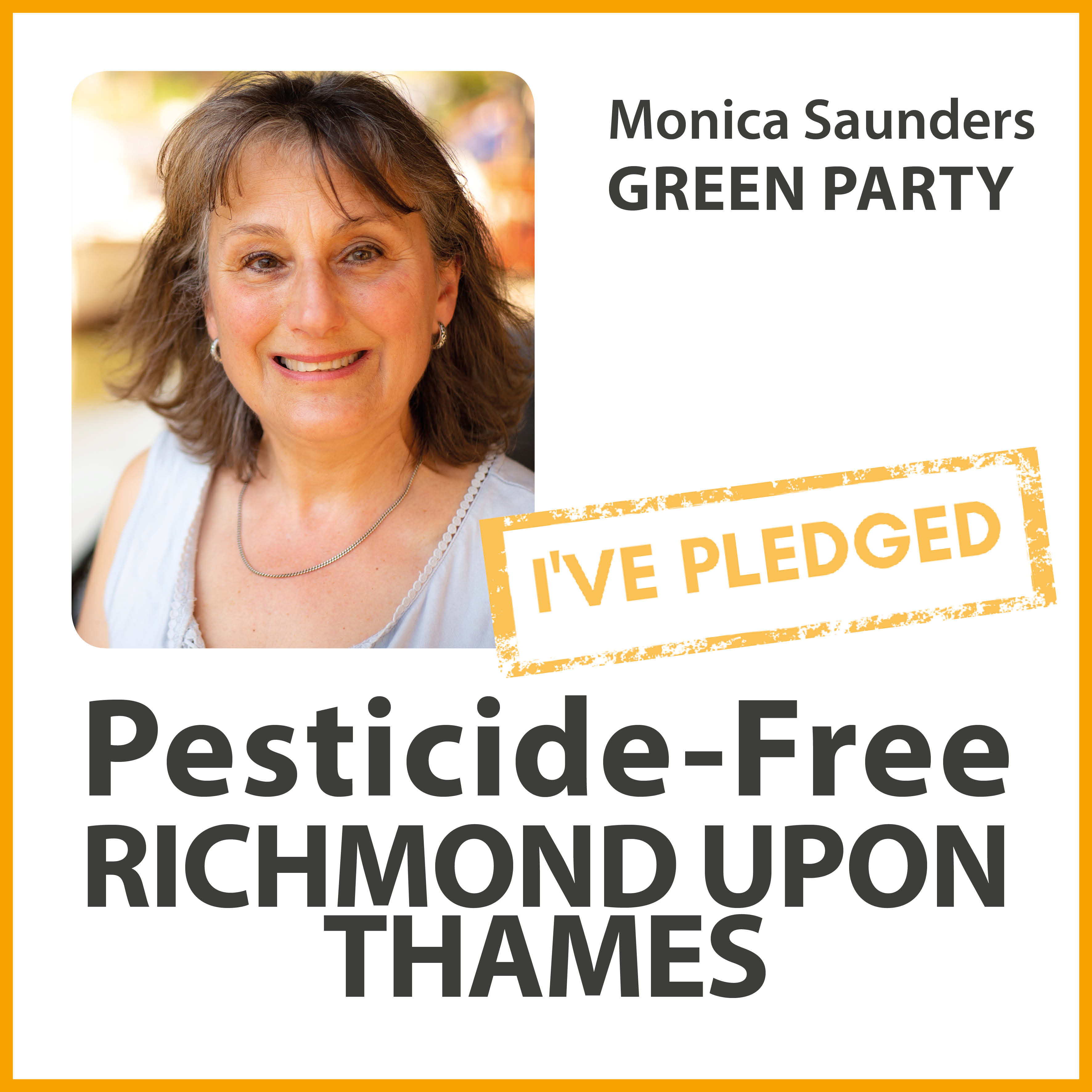 Monica Saunders has taken the pesticide-free pledge in Richmond