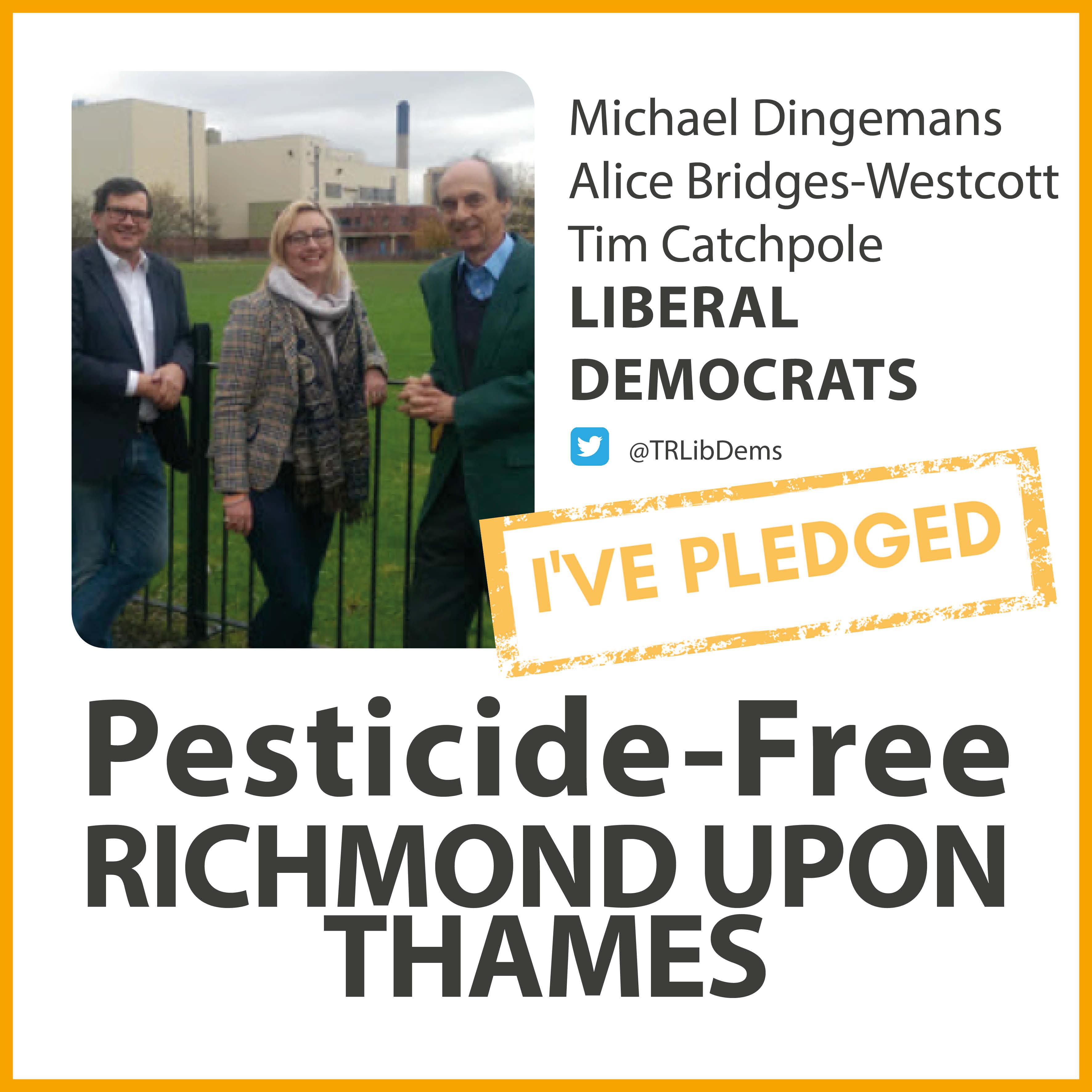 Mortlake and Barnes Common Lib Dems have taken the pesticide-free pledge