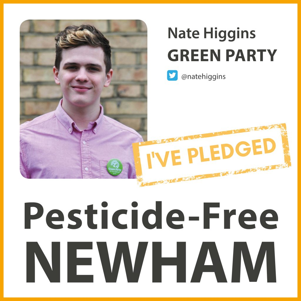 Nate Higgins has taken the pesticide-free pledge in Newham