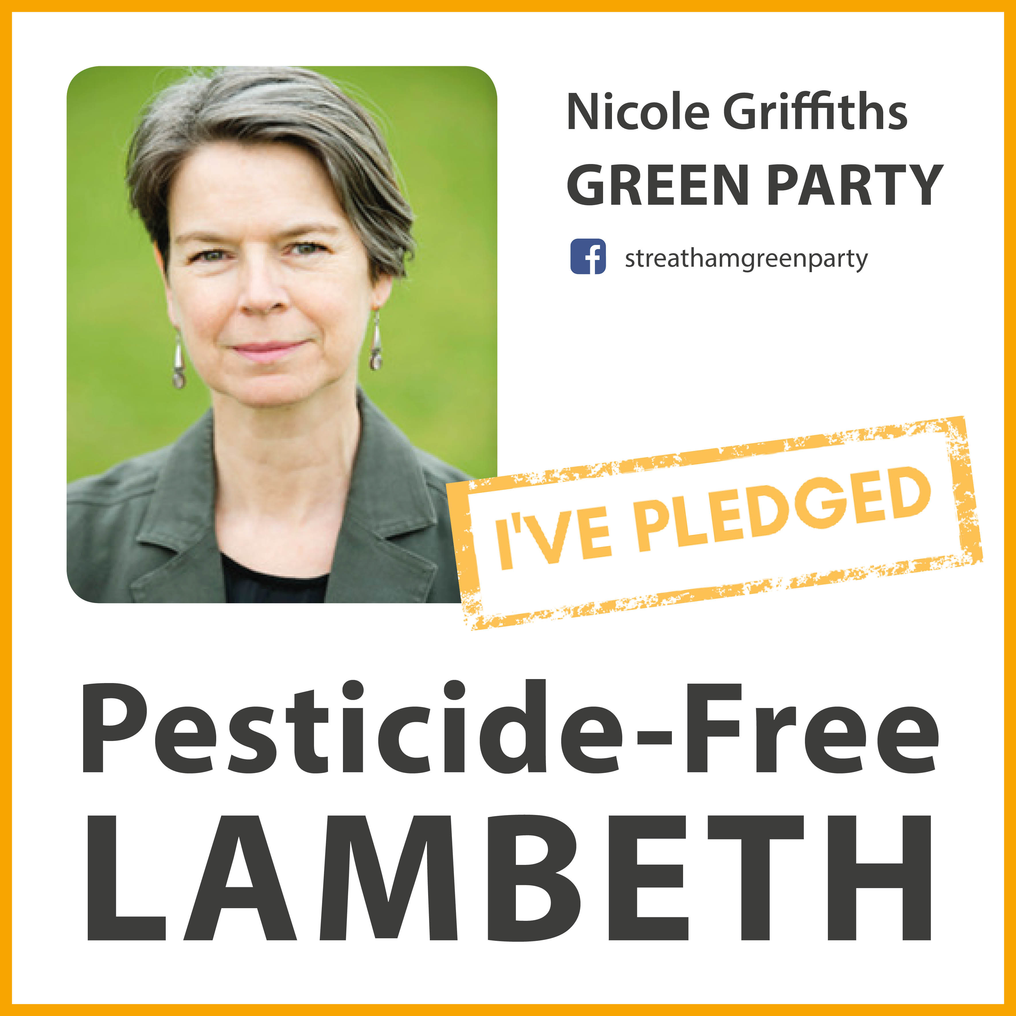Nicole Griffiths has taken the pesticide-free pledge in Lambeth