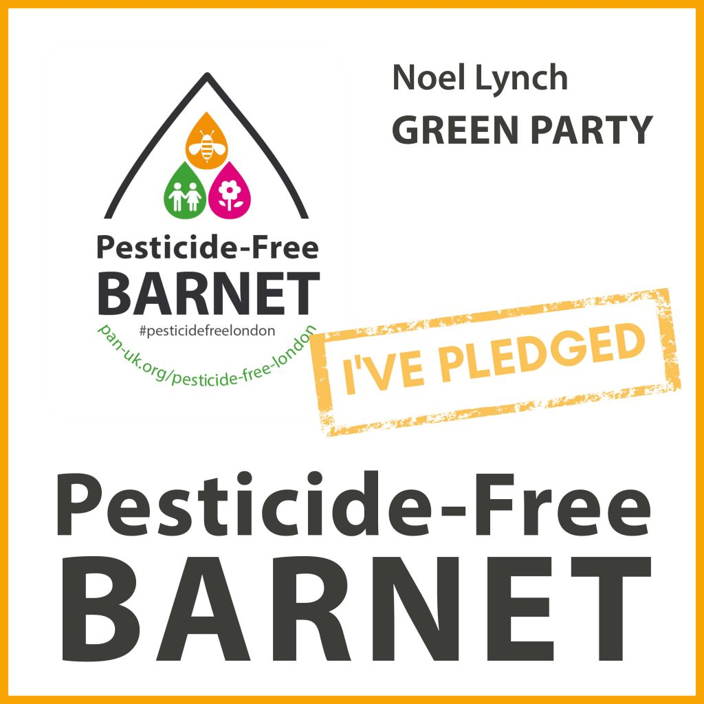 Noel Lynch has taken the pesticide-free pledge in Barnet