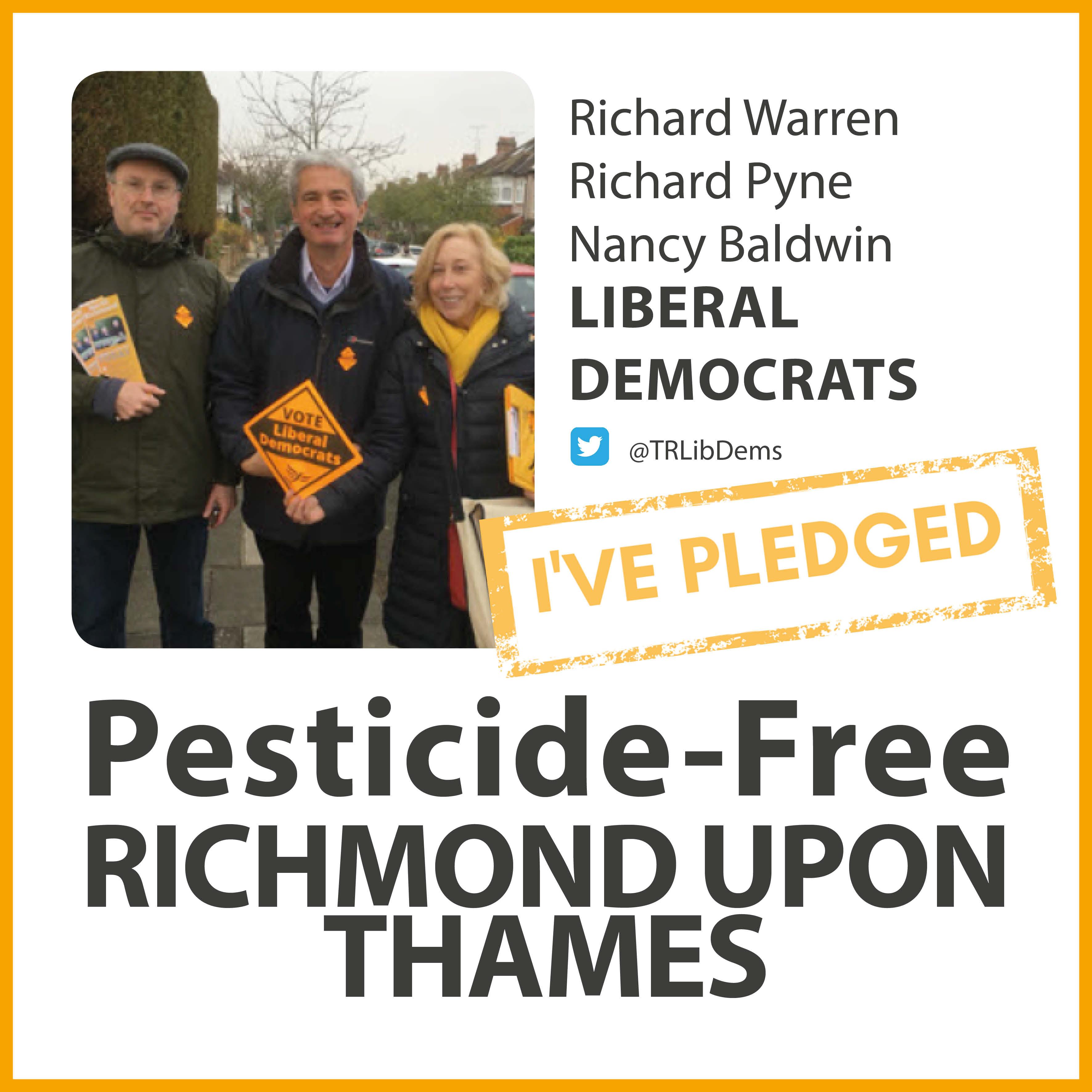 North Richmond Lib Dems have taken the pesticide-free pledge