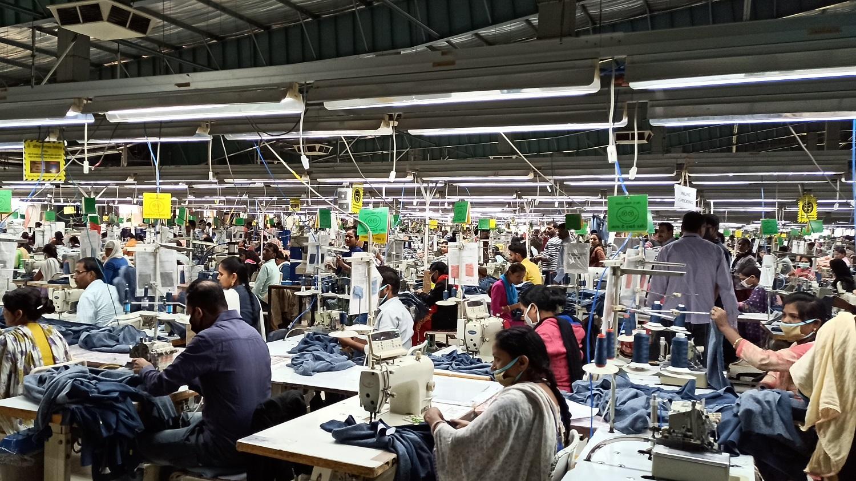 OPEPAB and PAN Ethiopia following the garment production chain at Pratibha Syntex Ltd. Credit: Atalo Belay, PAN Ethiopia