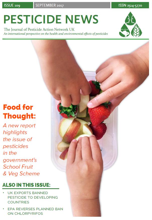Pesticide News Issue 109 - September 2017