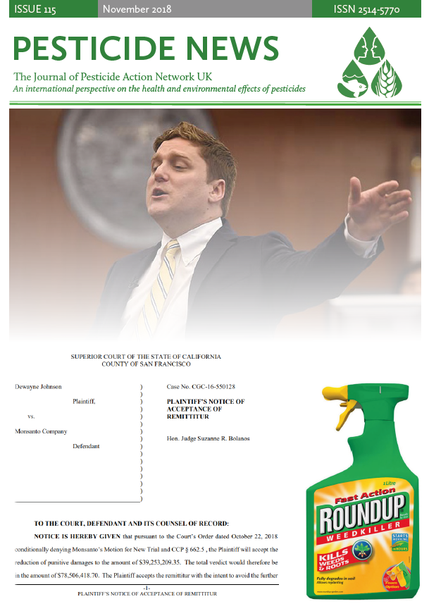 Pesticide News Issue 115 - November 2018