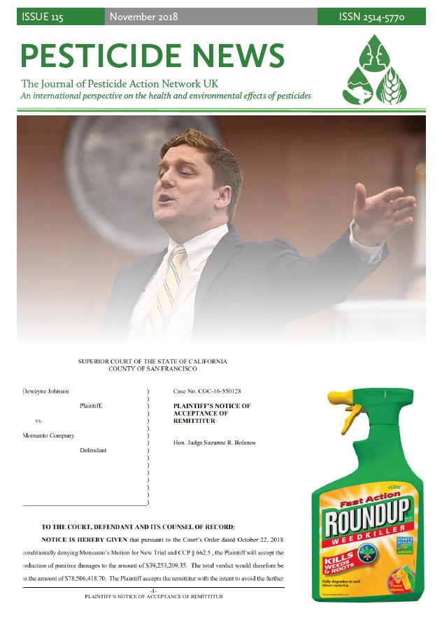 Pesticide News Issue 115 - November 2018