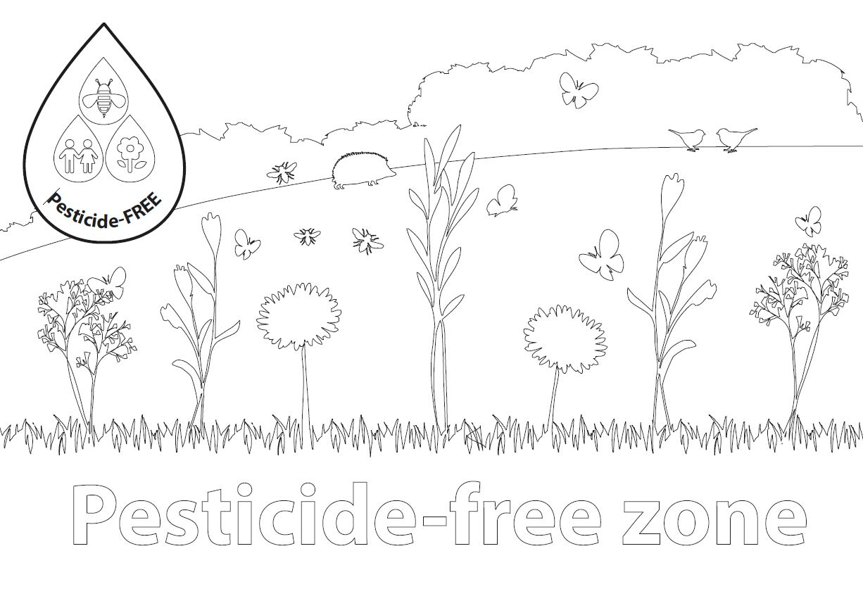 Download and colour in the Pesticide-Free Zone Poster
