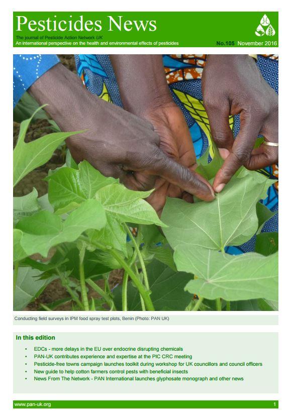 Pesticide News Issue 105 - November 2016