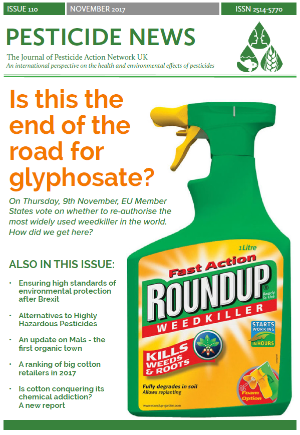 Pesticide News Issue 110 - November 2017