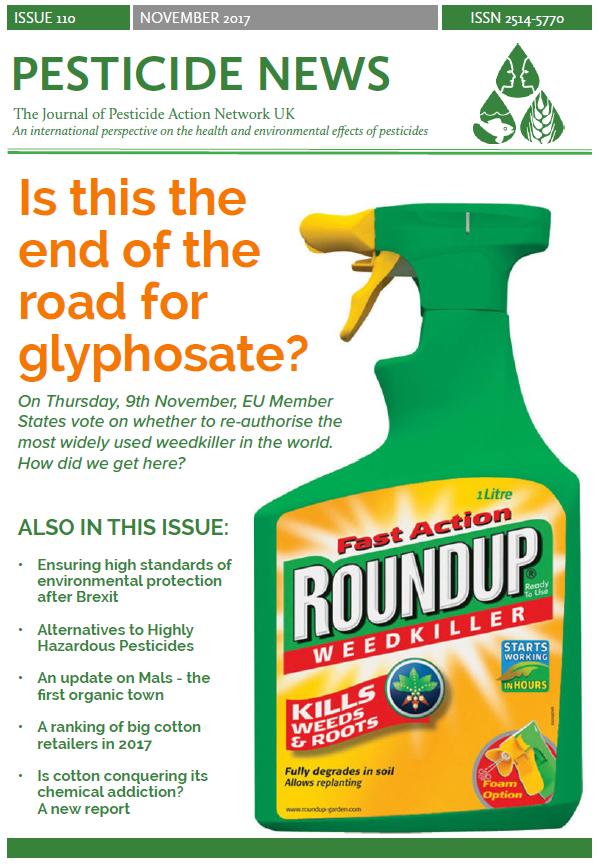 Pesticide News Issue 110 - November 2017