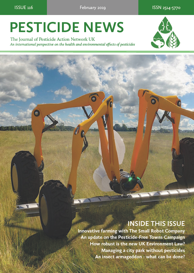 Pesticide News Issue 116 - February 2019