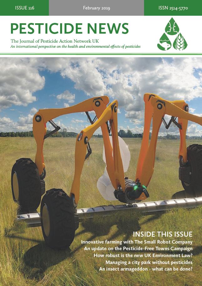 Pesticide News Issue 116 - February 2019