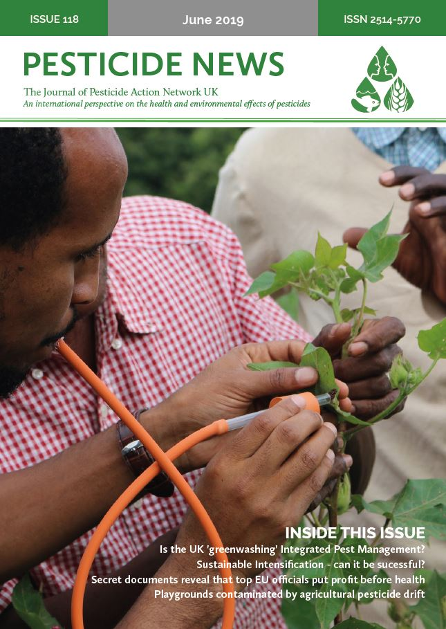 Pesticide News Issue 118 - June 2019