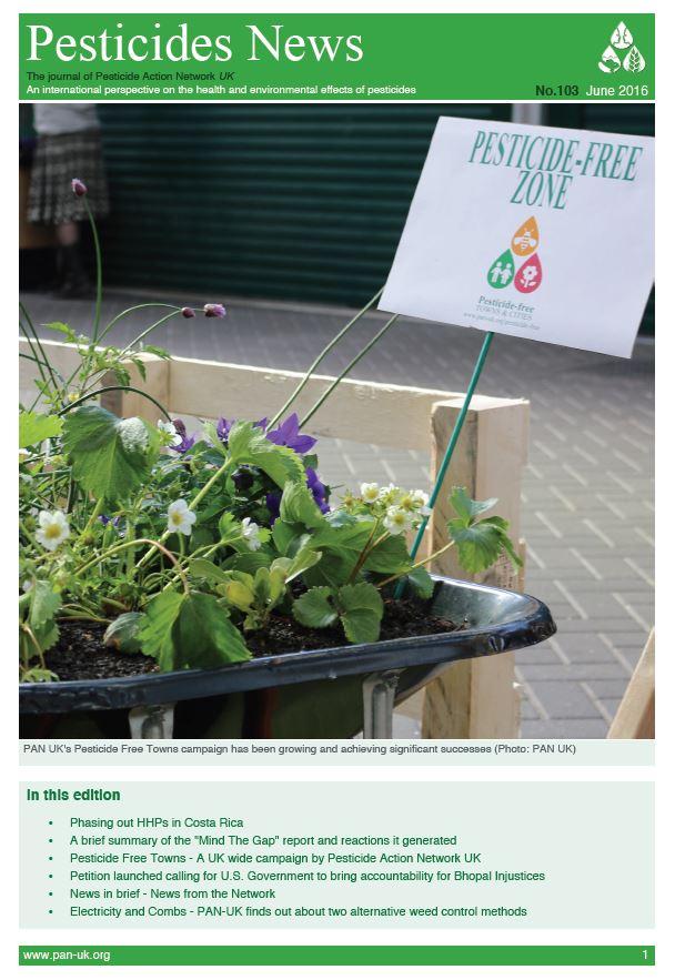 Pesticide News Issue 103 - June 2016