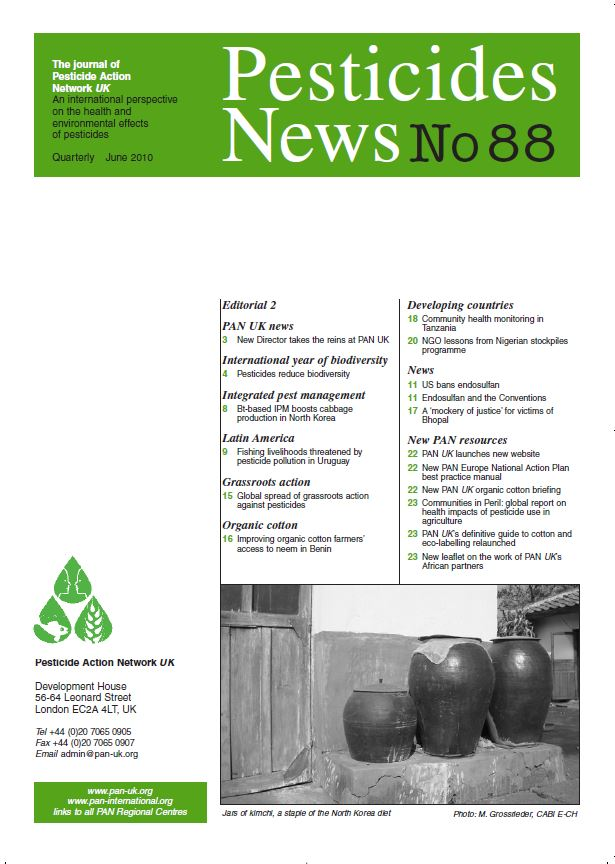 Pesticide News Issue 88, June 2010