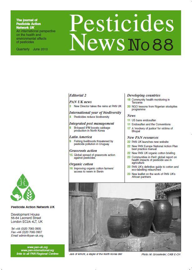 Pesticide News Issue 88, June 2010