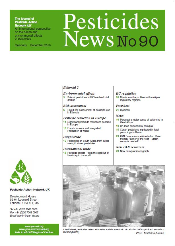 Pesticide News Issue 90, December 2010