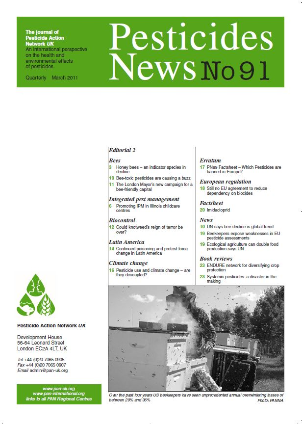Pesticide News Issue 91, March 2011