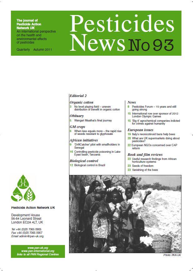 Pesticide News Issue 93, Autumn 2011