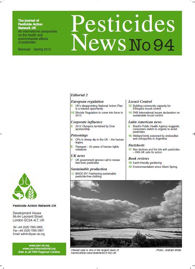 Pesticide News Issue 94 - Spring 2013