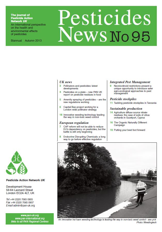 Pesticide News Issue 95 - Autumn 2013