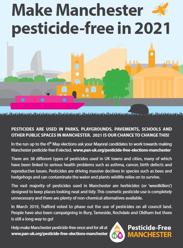 Pesticide-free Manchester leaflet