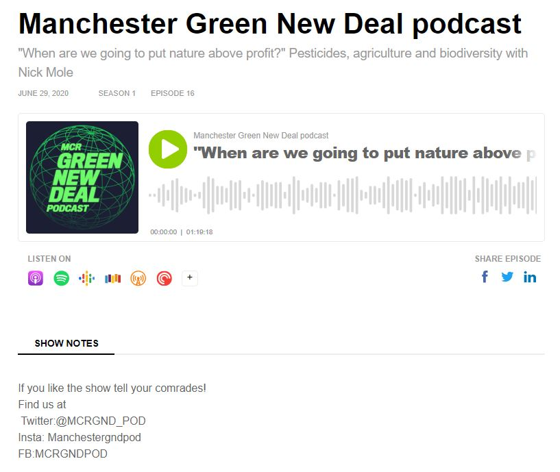 Manchester Green New Deal Podcast - When are we going to put nature above profit?