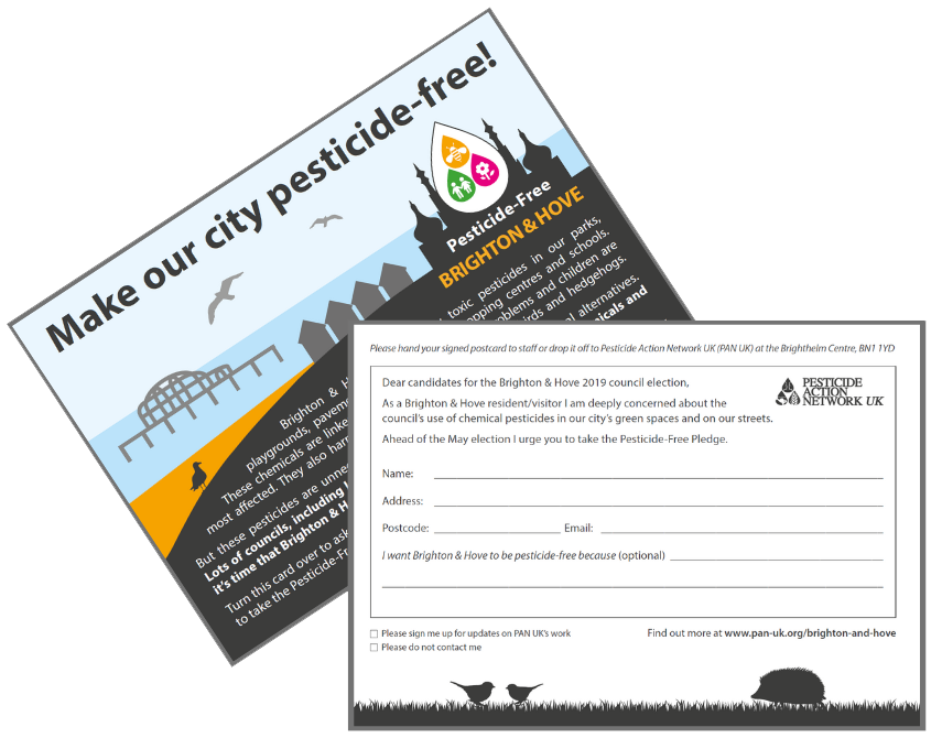 Have you signed one of our Pesticide-Free Brighton and Hove postcards yet?