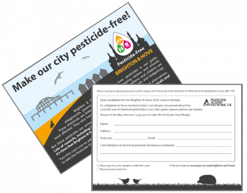 Postcards in the Pesticide-Free Brighton and Hove Campaign