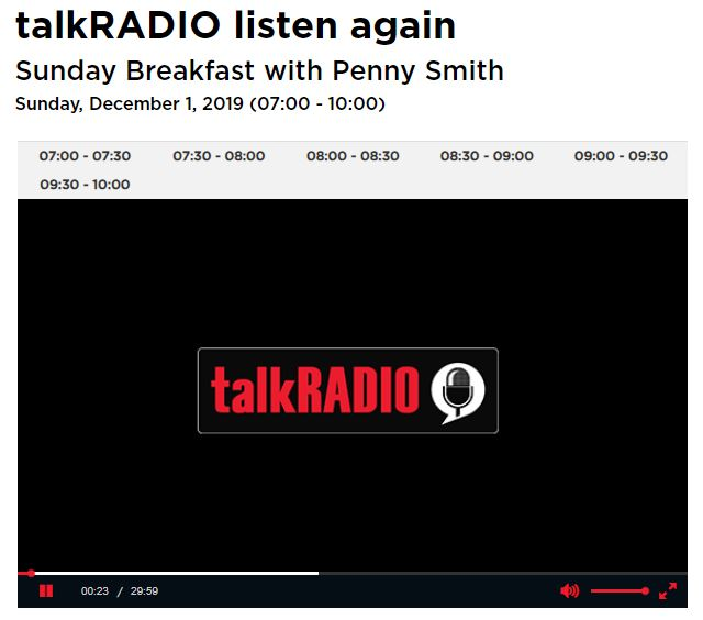 Talk Radio - 1st December 2019 - Supermarket ranking on pesticides