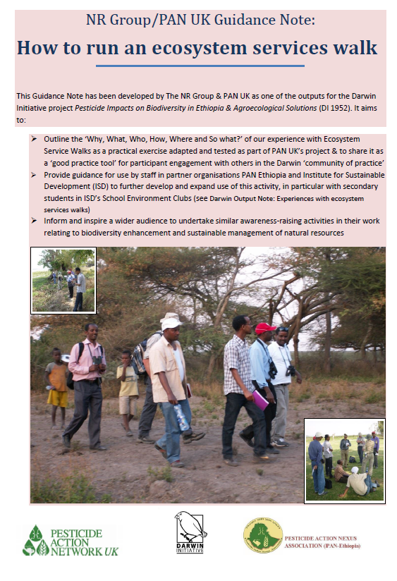Guidance on how to run an ecosystem services walk