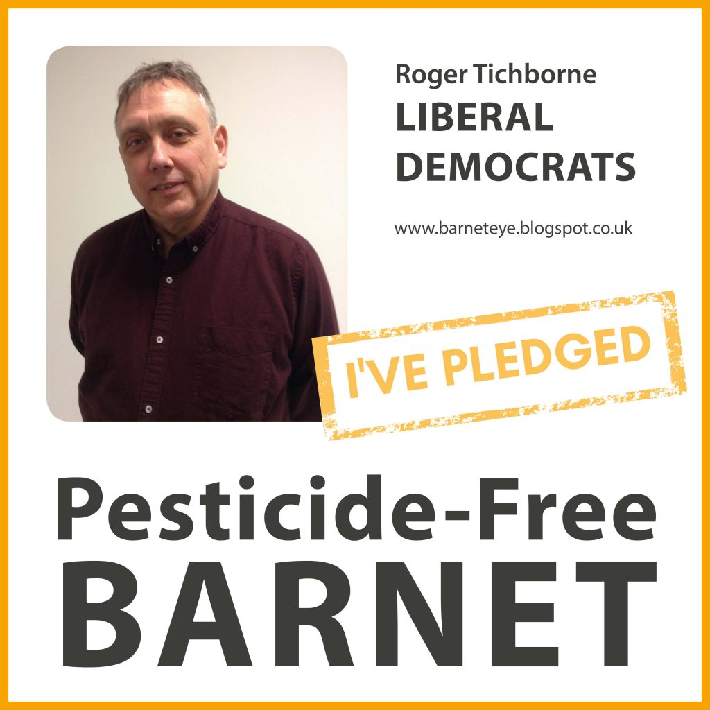 Roger Tichborne has taken the pesticide-free pledge in Barnet