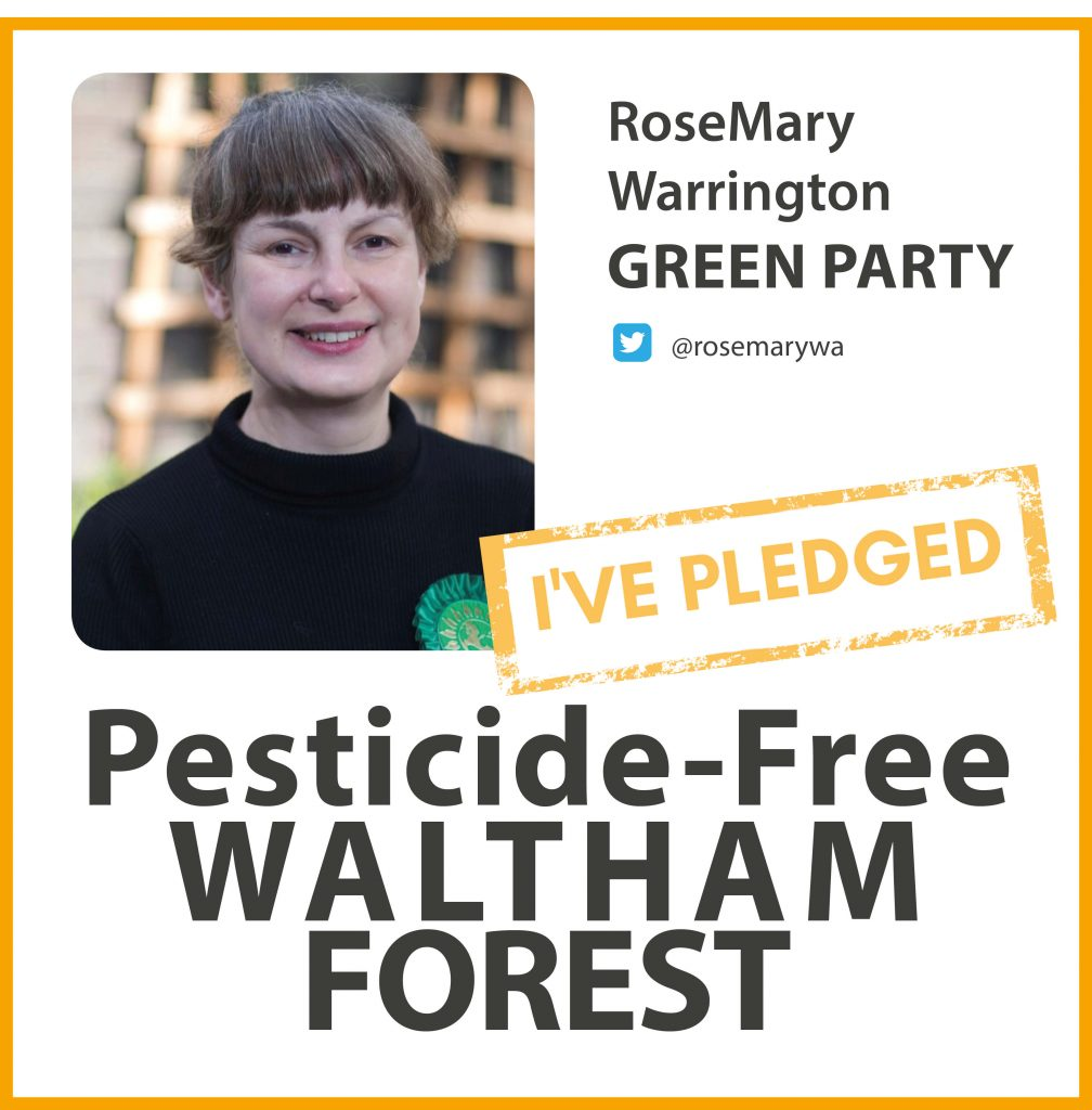 RoseMary Warrington has taken the pesticide-free pledge in Waltham Forest