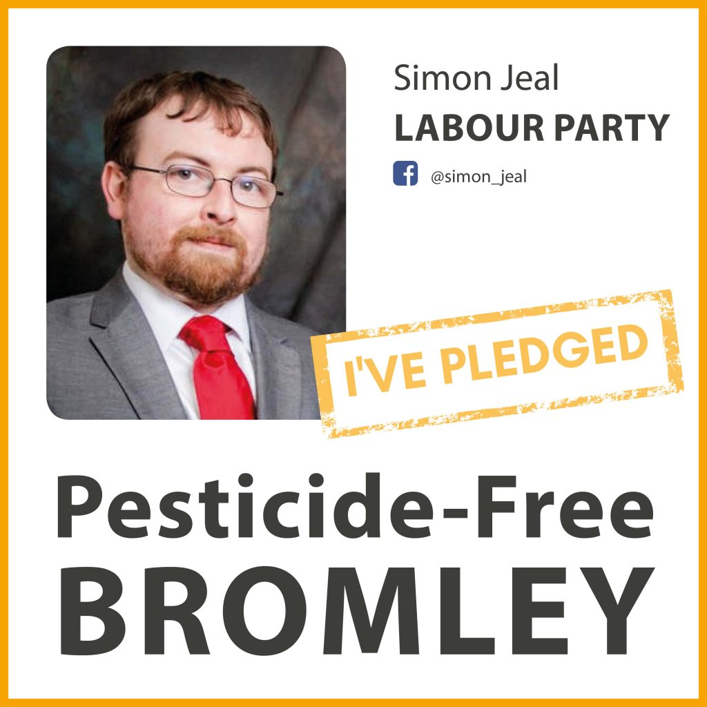 Simon Jeal has pledged to make Bromley pesticide-free