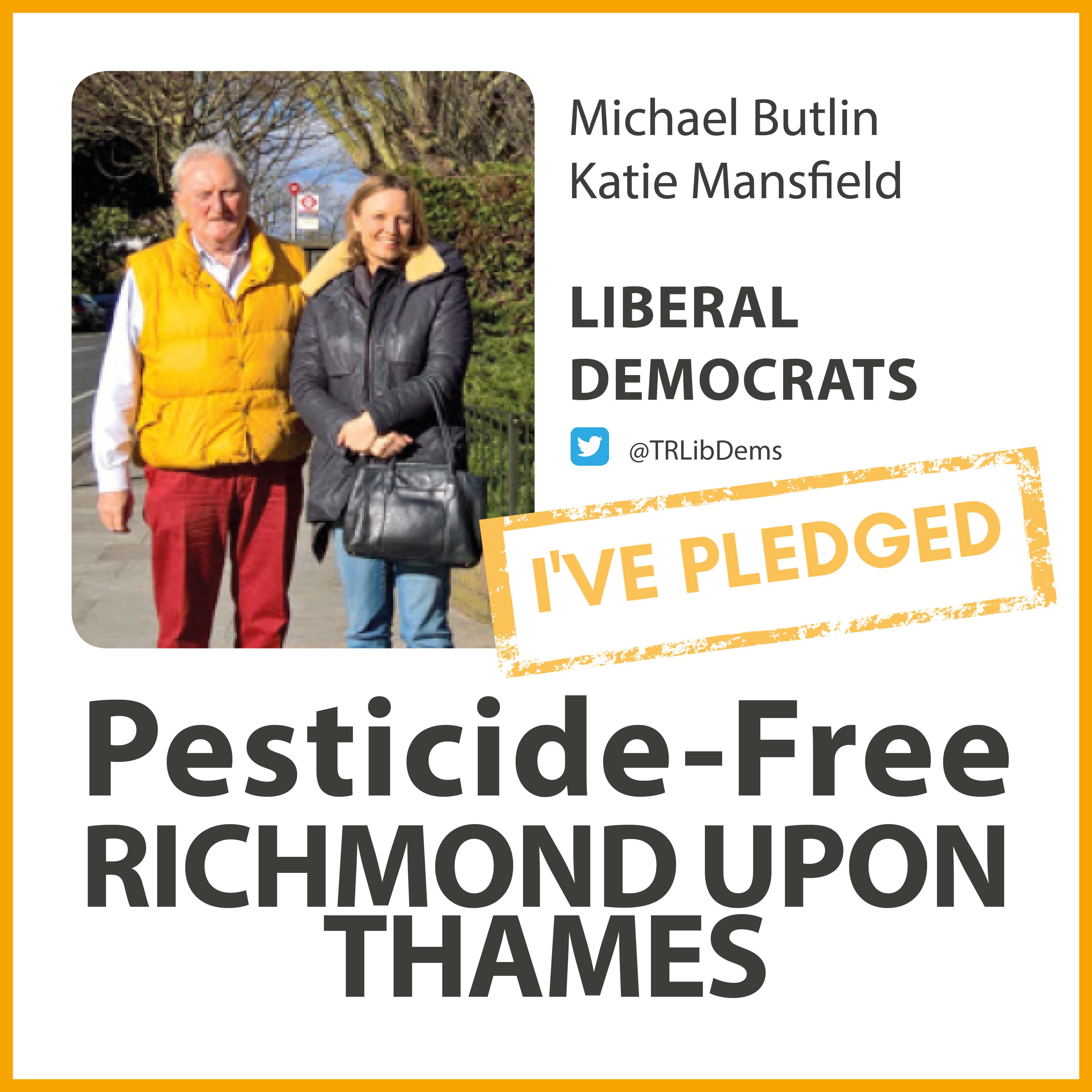 South Twickenham Lib Dems have taken the pesticide-free pledge