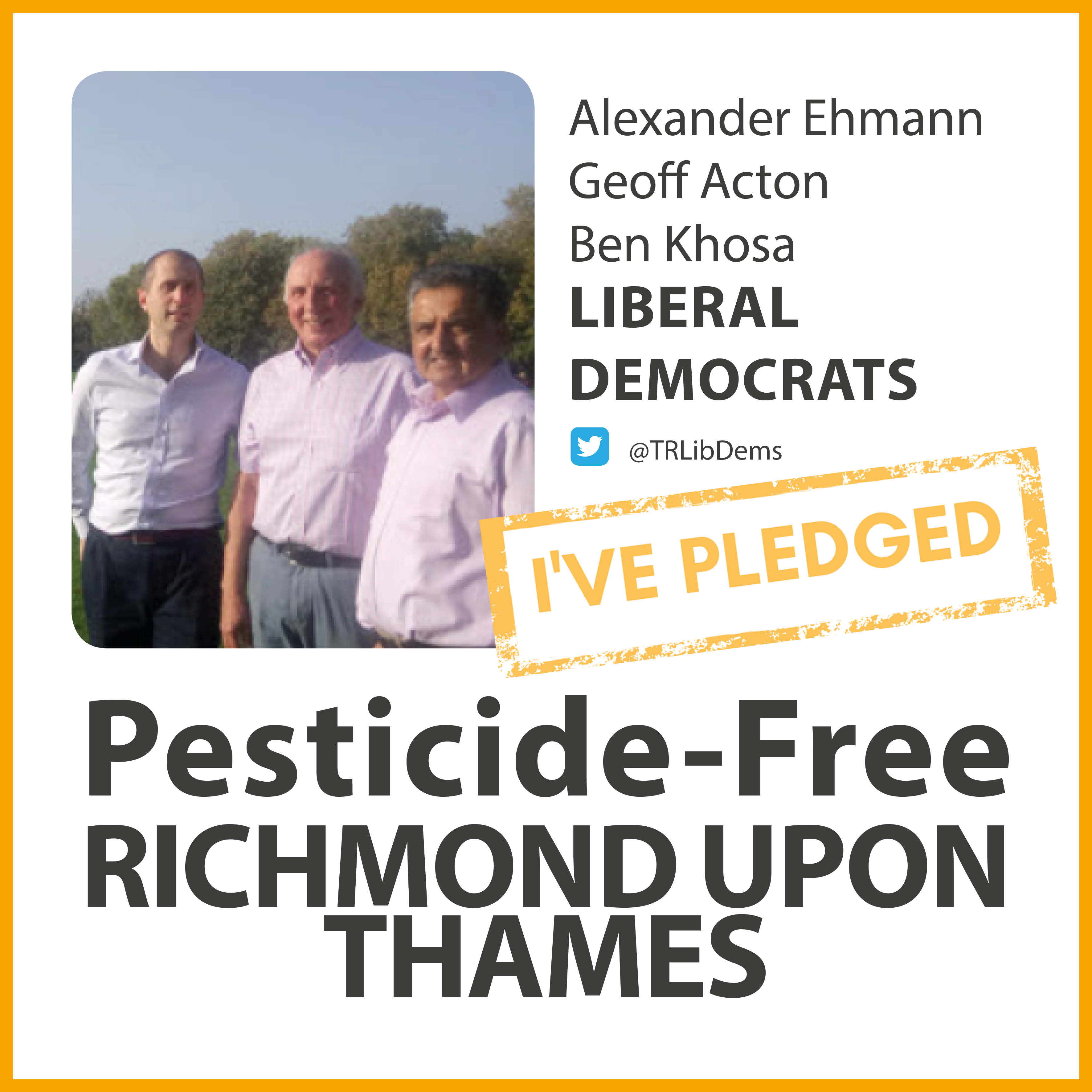 St Margarets and North Twickenham Lib Dems have taken the pesticide-free pledge