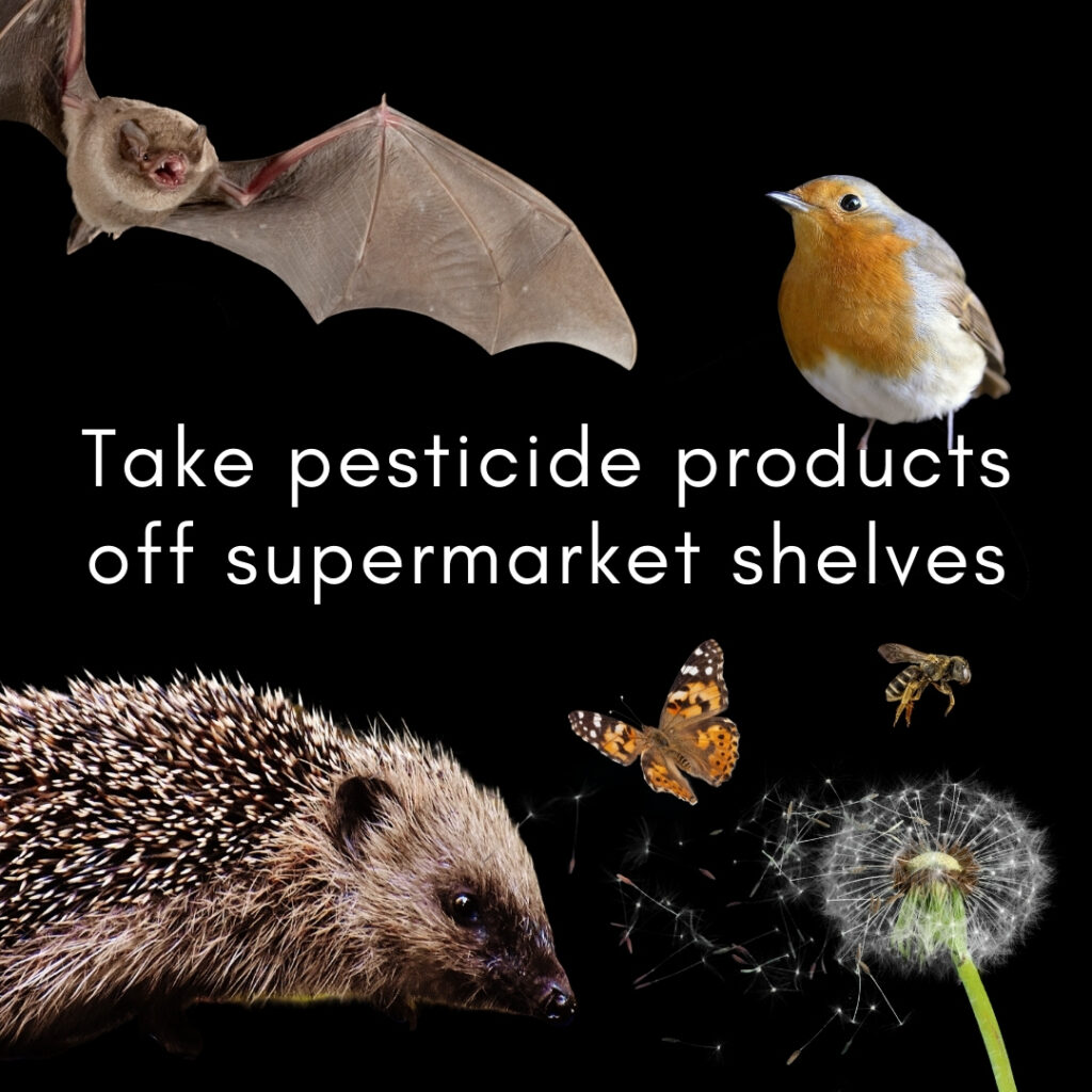 Take pesticide products off supermarket shelves