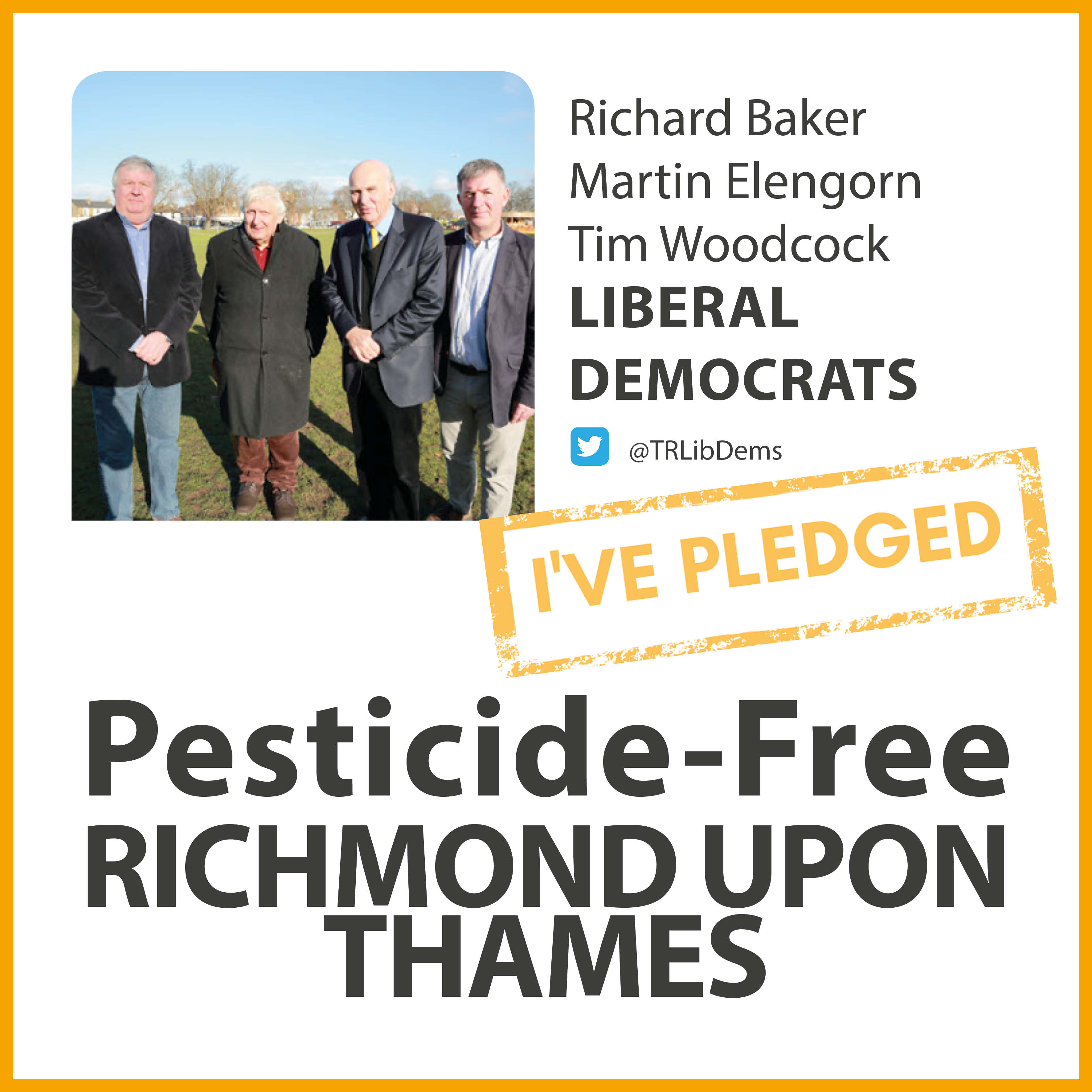 Teddington Lib Dems have taken the pesticide-free pledge