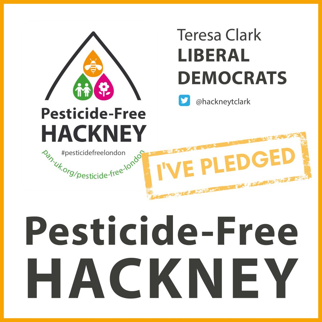 Teresa Clark has pledged to make Hackney pesticide-free